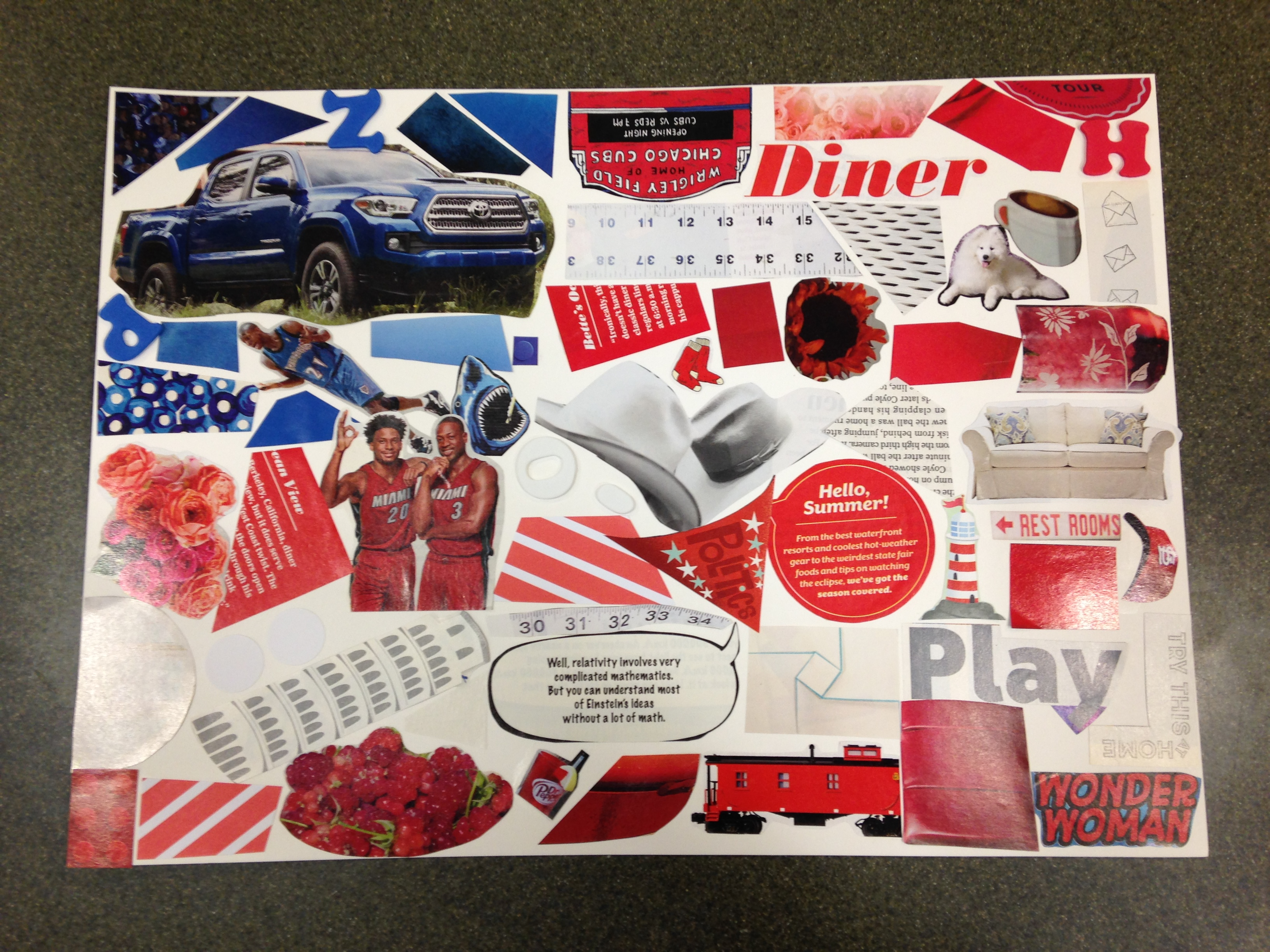 Kids Craft - Red, White, & Blue Collages